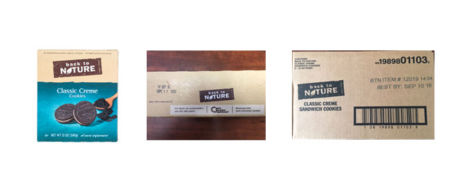 Photos of Back to Nature Classic Creme Cookies packaging